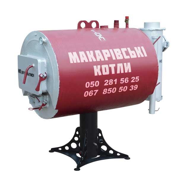 """Твердопаливний піролізний водогрійний котел ТГУ-600В. 25 кВт. ТМ """"Макарівські котли"""" Україна. Вид спереду-справа"""