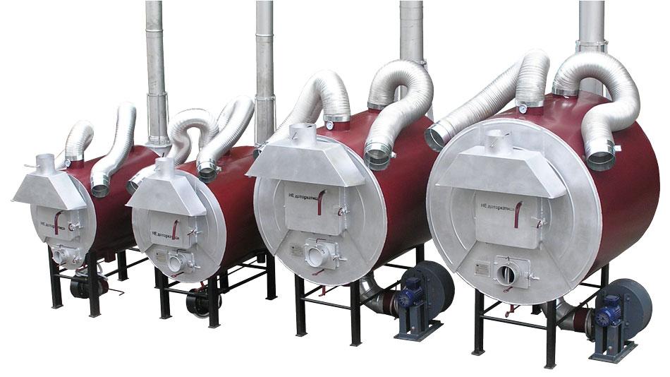 Твердопаливні піролізні повітрогрійні котли - теплогенератори. 25-95 кВт. ТМ